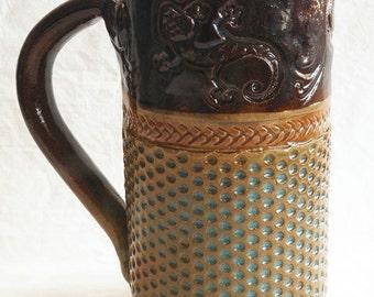 Gecko stoneware 20oz ceramic coffee mug 20C037