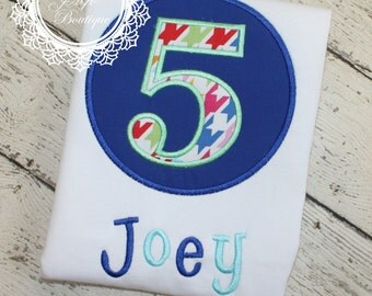 BIRTHDAY Shirt - Boy's or Girl's Birthday Shirt - Applique Designs - Birthday Number Shirt - Memorial Day - Holiday Shirt