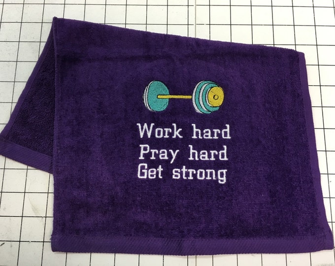 Personalized, workout towel, exercise towel, yoga, exercise gift, gym towel, fitness, embroidered towel, monogrammed, weights,