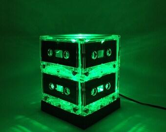 Music Lover Repurposed Mixtape Light Green Cassette Tape Lamp