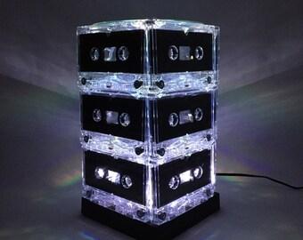 White Cassette Tape Lamp Mixtape Light Music Lover Gift