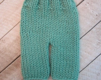 Knitting Pattern - Baby Knitting Pattern - Knit Baby Pants Pattern - Longies Pattern - Newborn to 12 Months - Photo Prop Pattern - PDF 307