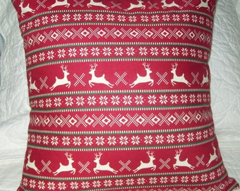 Christmas Reindeer Holiday Pillow Just in Time