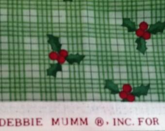 Vintage Debbie Mumm Fabric Christmas -  OOP