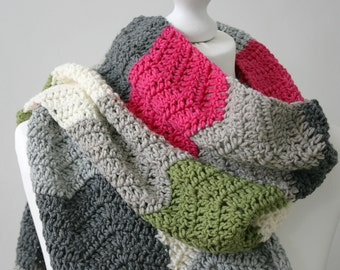 Scarf Crochet Pattern - Subway Scarf - Crochet Ripple Scarf - PDF crochet pattern