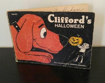 Vintage Halloween Books - Clifford's Halloween - 1966