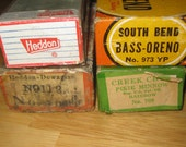 Vintage Lure Boxs Heddon, CCBC,South Bend collectible