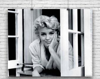 Marilyn Monroe, Elegant Window Photography Poster