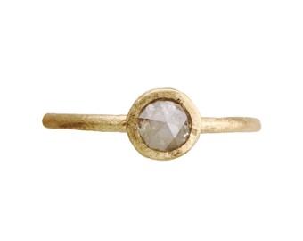 Light grey diamond ring. Engagement. Thompson