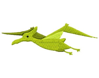 Pterodactyl Dinosaur Machine Embroidery Design - Instant Download