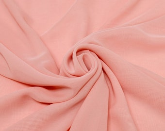 Hi Multi Chiffon Fabric Blush by the yard (273)