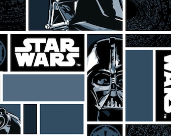 Star Wars Darth Vader Block Fleece Fabric by the yard