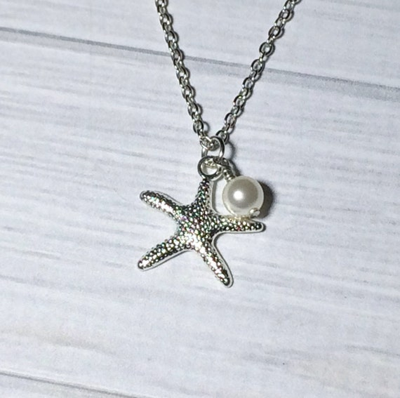 Starfish Pearl Necklace Christmas Gift Women's Necklace Gift Bridesmaid Necklace Wedding Mom Girlfriend Friend