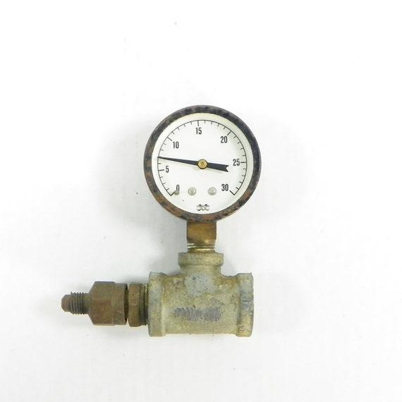 Vintage pressure gauge steampunk gauge - Steampunk pressure gauge ...