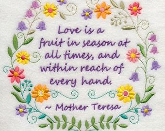 Love is a Fruit in Season at All Times - Fabric - Towels