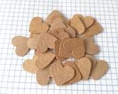 200 + pcs. Heart Confetti, Heart Kraft Paper Confetti