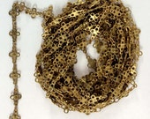 Vintage Handmade Brass Chain, Jewelry Making, Patina Brass, Brass Connector Chain, Jewelry Chain, B'sue Boutiques, About 9 Feet, Item08483