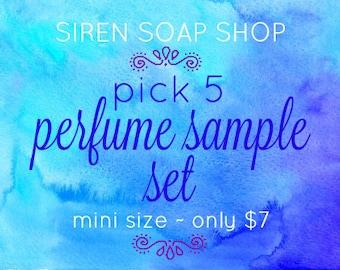 Pick 5 - Perfume Sample Set, Perfume Oil, Perfume Samples
