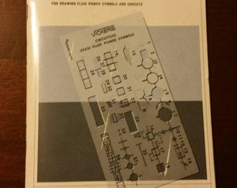 Vintage Vickers Circuitool Book with Plastic Schematic Diagram Maker by Sperry Rand