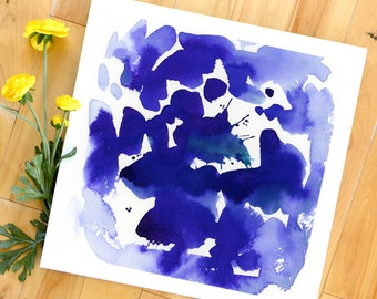 Watercolor Print, Abstract Art Print, Floral, Landscape Painting, Modern Art, Expressionist, Minimalist, Garden Floral, Bohemian
