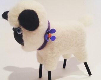 Stick Leg Felted Wool Sheep