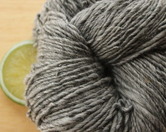 Rainy Tuesday - Handspun Yarn Alpaca Wool Bamboo Natural Grey