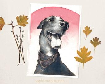 Mitzi A5 Print Greyhound