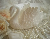Vintage Cottage Shabby Chic Porcelain White Swan Planter SincerelyRaven On Etsy