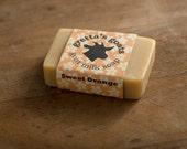 Organic Sweet Orange Goat Milk Soap from Hand Milked Goats that Graze on Organically Managed Pasture