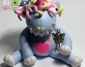 Meet Misty Fluffle Reins. Pastel Unicorn. Hand Sculpted Polymer Clay Figurine