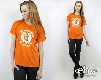 """Thin Vintage Tee Vintage T Shirt 70s Tee 70s Vintage Tee Vintage 70s Super Soft + Thin Home Depot """"We do it better"""" Tee S M"""