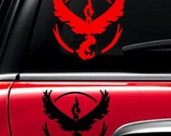 Team Valor Pokemon Go car decal electronic decal