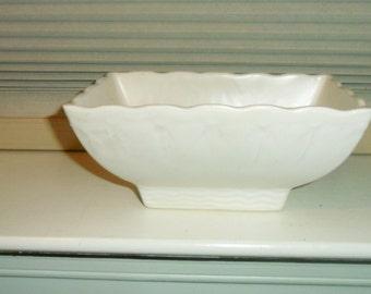 "Vintage McCoy Pottery Off White 7"" Planter"