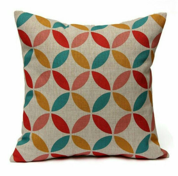 How To Make A Round Throw Pillow Cover : Colorful Round Flower Throw Pillow Cover Sofa by FooFooLaLaChild