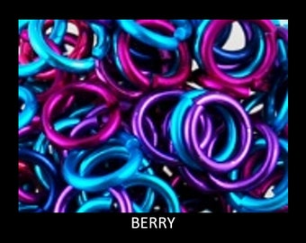 BBB F20 Berry Jump Rings : 4.0 mm (5/32 in) Anodized Aluminum 20 gauge