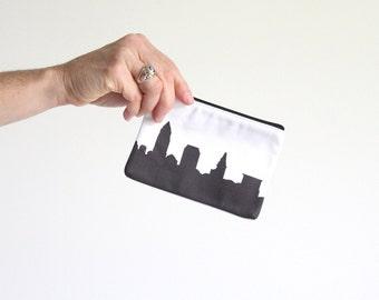 Cleveland City Clutch Purse - 4x6 - Skyline Silhouette - Lipstick Coin Purse
