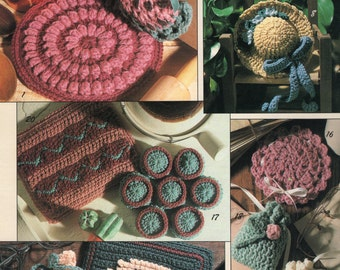 Sachet Crochet Pattern - Scentimental Sachets to Crochet Pattern Book - Vintage