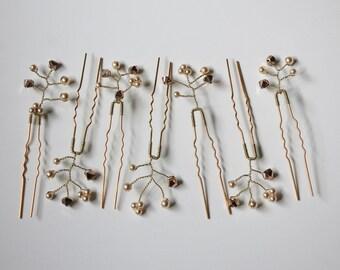 New Bridal Hair Pins - 'Vine' Hair Pins - Set of 7