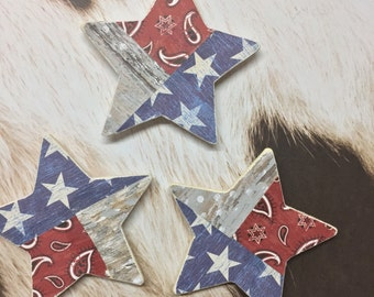 Wooden star shaped Texas magnets