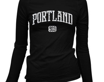 Women's Portland 503 Long Sleeve Tee - S M L XL 2x - Ladies' Portland T-shirt, PDX, Oregon - 2 Colors
