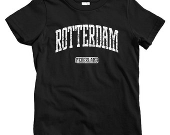 Kids Rotterdam T-shirt - Baby, Toddler, and Youth Sizes - Netherlands Tee, Nederland, Dutch, Holland - 4 Colors