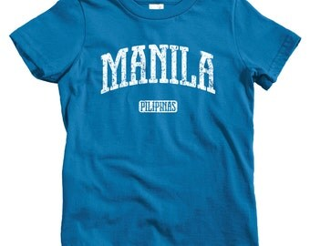 Kids Manila T-shirt - Baby, Toddler, and Youth Sizes - Philippines Tee, Pilipinas, Filipino - 4 Colors