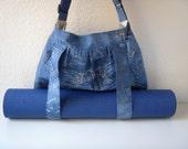 Yoga Mat Bag Blue Jeans Handmade Babimini