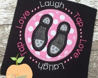 Tap Circle Machine Embroidery Applique Design Buy 2 for 4! Use Coupon Code 50OFF