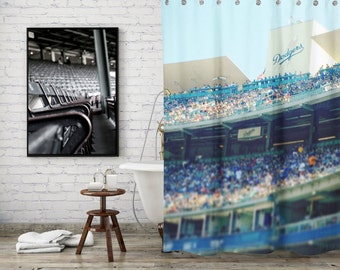 Dodger Shower Curtain for the Baseball Fan
