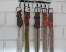 5 Vintage mens woven skinny belts sizes 38 and 40