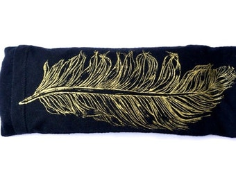 Feather Eye pillow / Organic Cotton and Bamboo / Yoga tool, perfect for Savasana