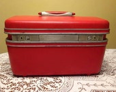 Red Samsonite Train Case