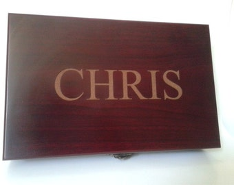 Wooden Cigar Box - Personalized
