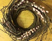 2.5in Light Pink Berry Candle Ring